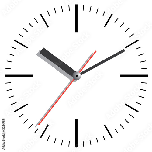 Wall clock. Vector illustration.