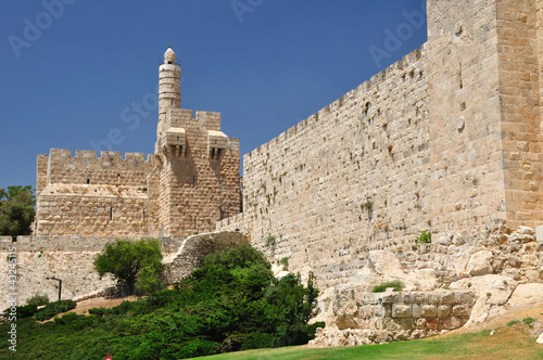 King David  tower and  Old Jerusalem wall.