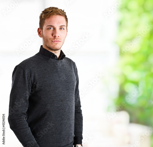 Confident young man portrait