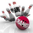Change Bowling Ball Strike Shaking Up for Adapting