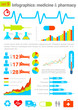Infographics elements with icons. Medicine & Pharmacy theme