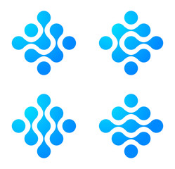 Logo Abstract. Molecule icon set. Engineering concept