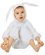 Funny kid in the rabbit costume