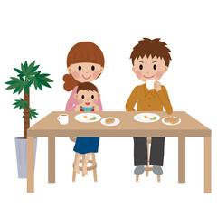 家族の朝食