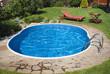 Garden pool w the furniture