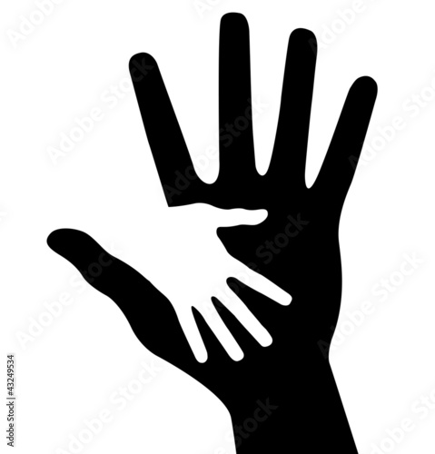 Caring hand, abstract vector illustration for design