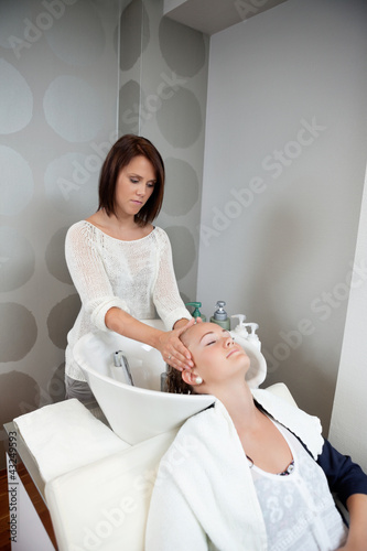 Soothing Massage During Hair Wash