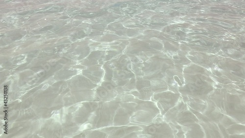 beautiful shore beach with ripple and wavy water reflection