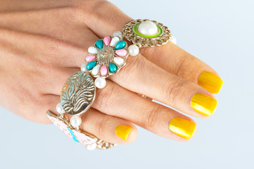 Womens hands with manicure