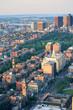 Boston street aerial view