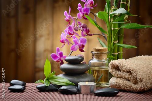 Fototapeten,kerze,bambus,massage,zen