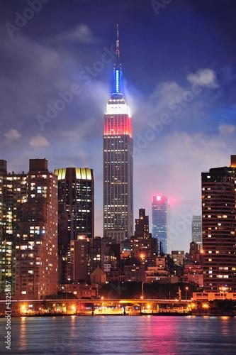 Naklejka Empire State Building at night
