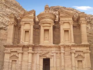 Monastery of Petra,  wonders of the world, Jordan.