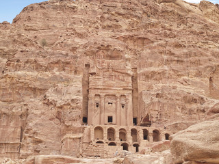 Tombs of  Petra, one of the seven wonders of the world, Jordan.