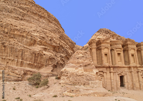 Monastery of Petra,  wonders of the world, Jordan.