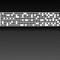 Abstract perforated paper tape. EPS10