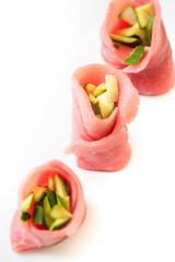 Carpaccio rolls - Involtini di carpaccio