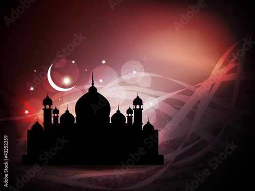 Creative religious eid background. Vector illustration