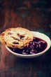 Cranberry cookie and sour cherry jam on a rustic table