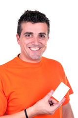 Young Man with credit card