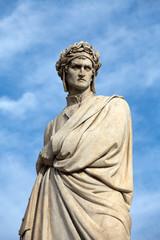 Dante Alighieri. Piazza Santa Croce in Florence, Italy