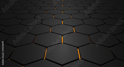 Glowing Hexagon Floor - 43256141