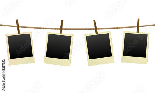 vector old photo frames