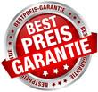 """Button Banner """"Bestpreis-Garantie"""" rot/silber"""