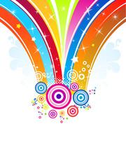 abstract rainbow explode