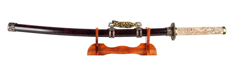 Samurai sword on a stand