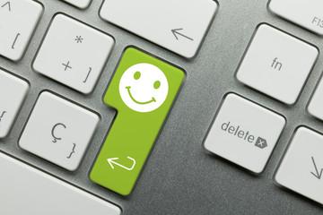 Green smile keyboard