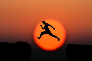 man jumps