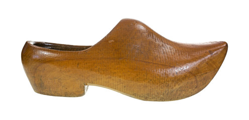 Heavy wood shoe