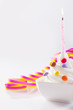 Birthday candle with ice-cream
