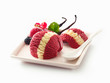 Decorative berry and vanilla ice-cream