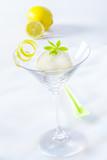 Appetizer of lemon sorbet