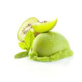 Tropical kiwi icecream dessert