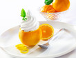 Refreshing orange tropical dessert