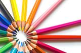 Fototapety Crayons de couleur en cercle