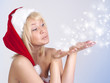 Beautiful woman in Santa Claus clothes, portrait