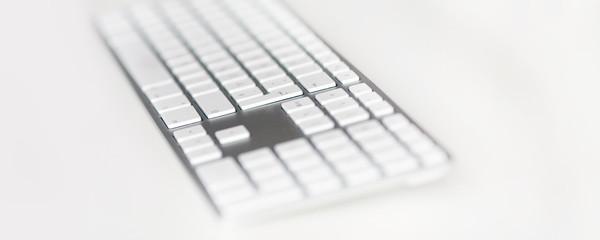 Graue tastatur