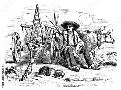 Trad. Peasant sitting - Agriculteur - Bauer