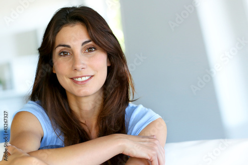 Portrait of attractive brunette woman