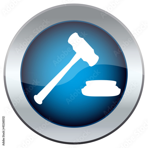 web button with the hammer, the judge
