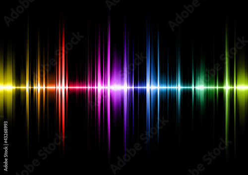 sound wave with spectral colours