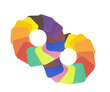 circles with colorful solid paint samples