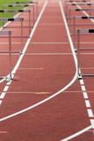 race track with hurdles poster