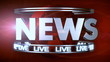 TV News title transition to Lower third - Red (With Alpha)