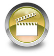 """Yellow Glossy Pictogram """"Clapperboard"""""""