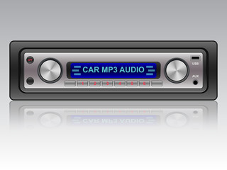 Car audio vector icon